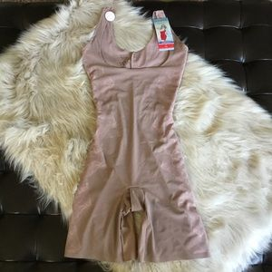 Spanx Taupe Open Bust Mid-Thigh Shaper NWT